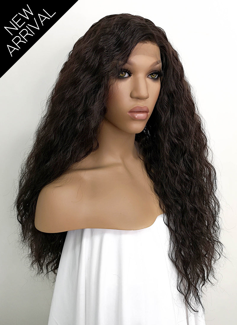 Black Wavy Lace Front Synthetic Wig LFKB5510