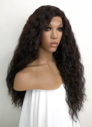 Black Curly Lace Front Synthetic Wig LFKB5510