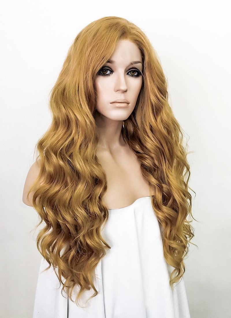 Golden Blonde Wavy Lace Front Synthetic Wig LW4001