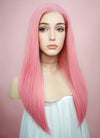 Straight Pink Lace Front Synthetic Wig LW769C