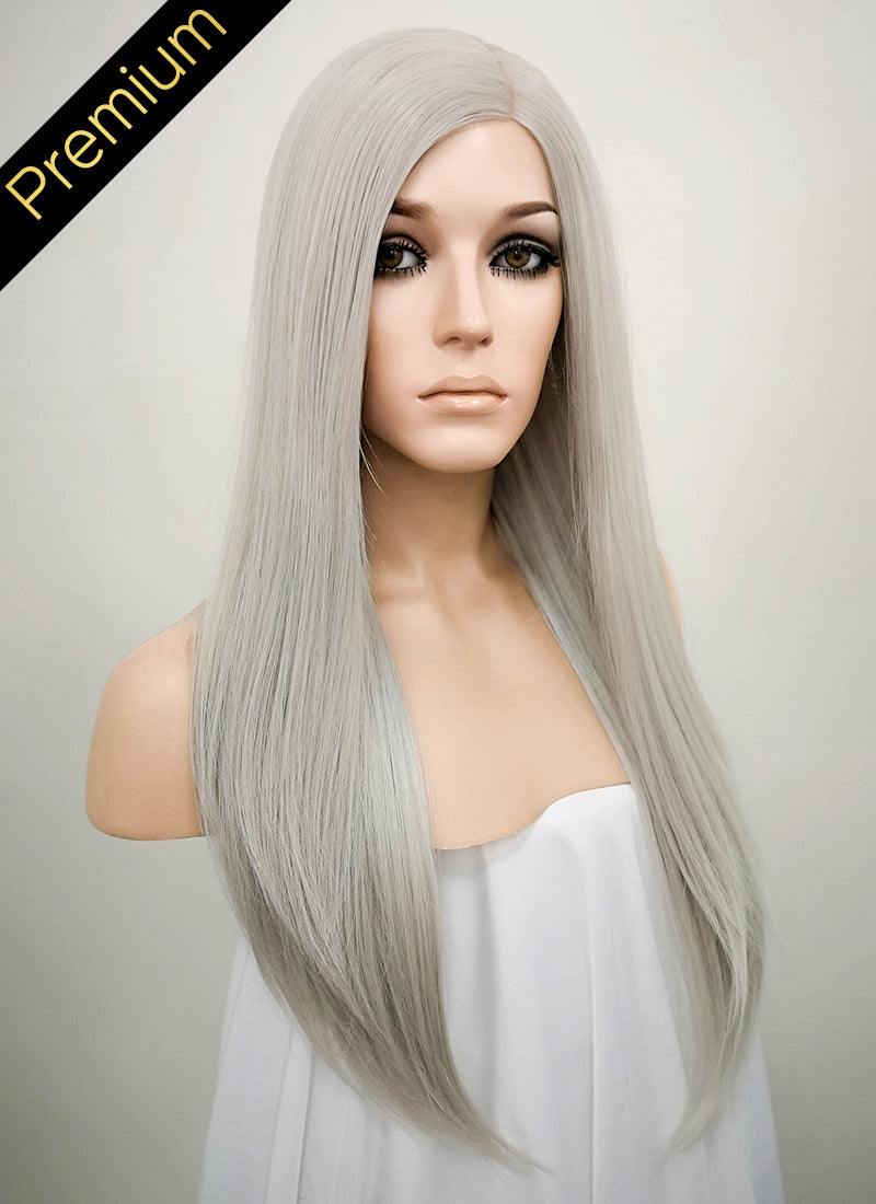 Grey Mono Parted Glueless Lace Wig MP008