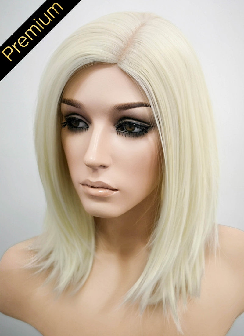 Light Blonde Mono Parted Glueless Lace Wig MP012