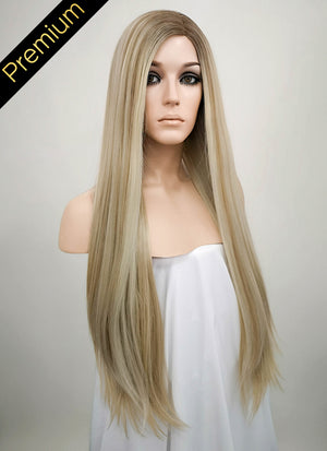 Mixed Blonde Mono Parted Glueless Lace Wig MP019
