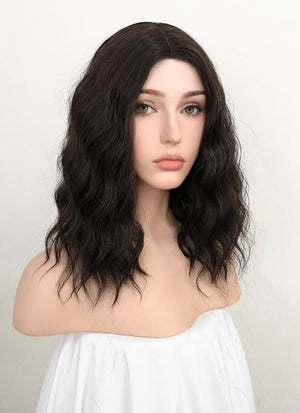 Brunette Wavy Bob Synthetic Wig NL003