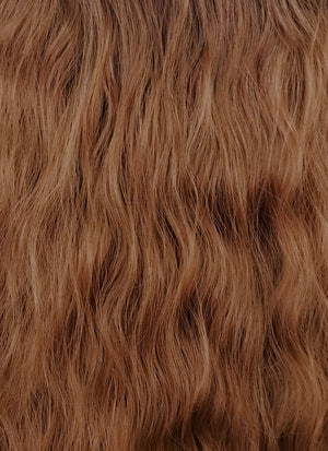 Two Tone Brown Wavy Synthetic Wig NL014