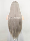 Pastel Grey Straight Synthetic Wig NL026