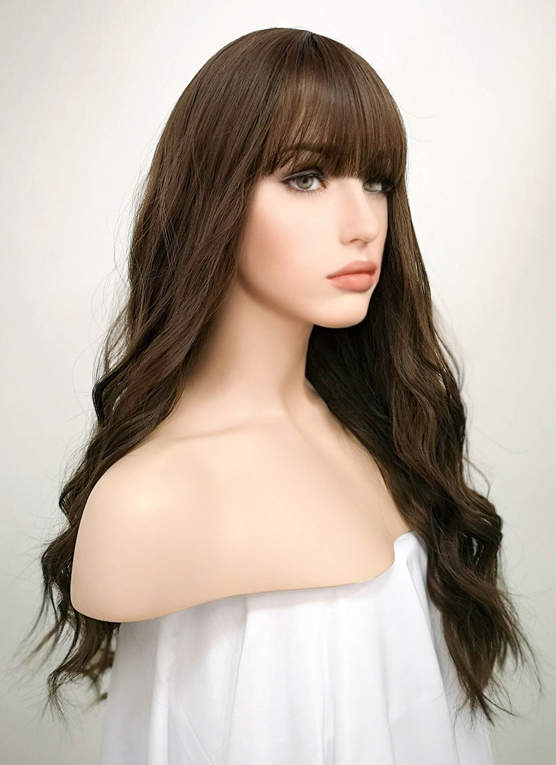 Brunette Wavy Synthetic Wig NS022