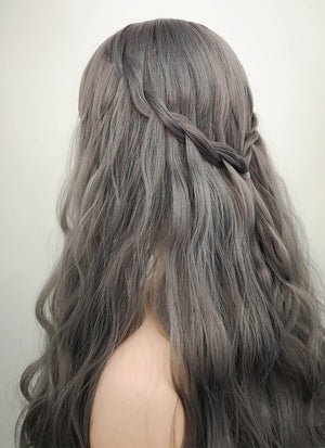Grey Wavy Synthetic Wig NS027