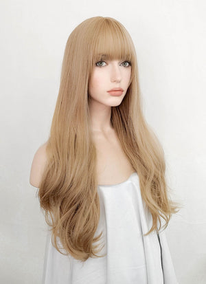 Golden Blonde Wavy Synthetic Wig NS045