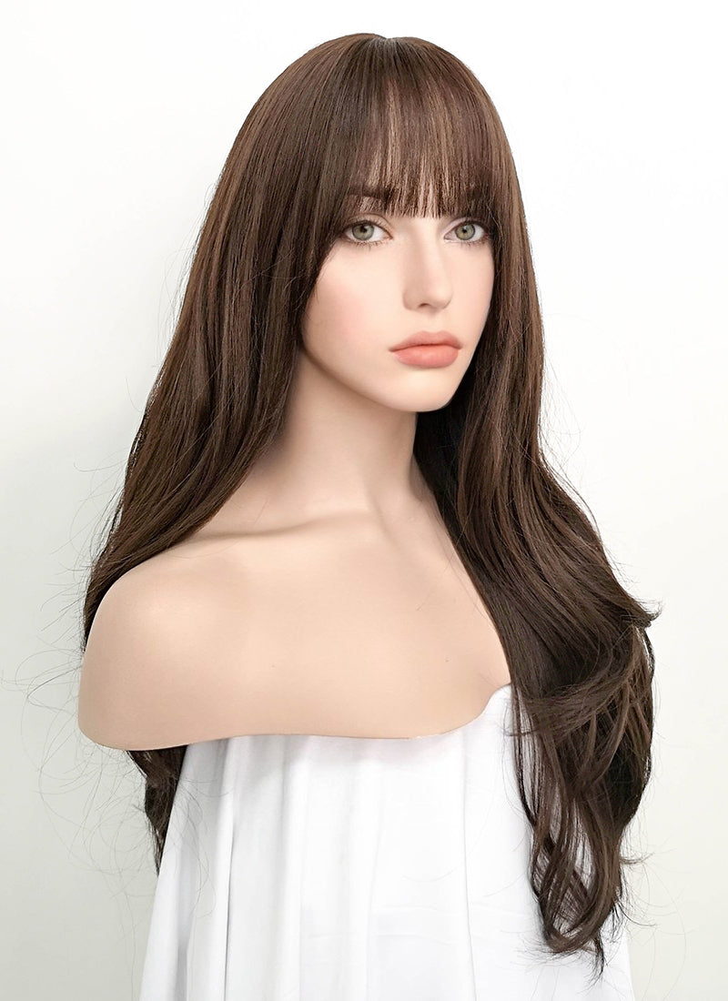 Brunette Wavy Synthetic Wig NS057