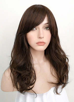 Brunette Wavy Synthetic Wig NS059