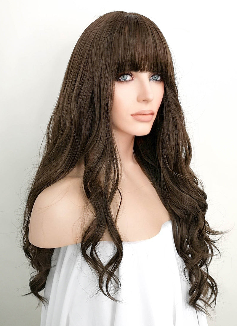 Brown Wavy Synthetic Wig NS071