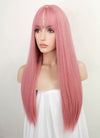 Pink Straight Synthetic Wig NS149