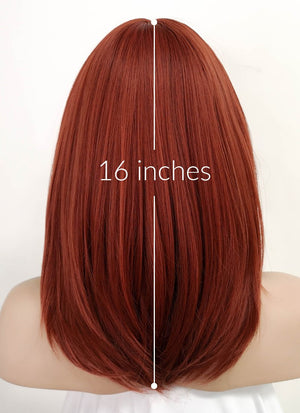Auburn Straight Bob Synthetic Wig NS151