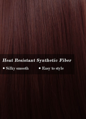 Dark Red Straight Synthetic Wig NS158