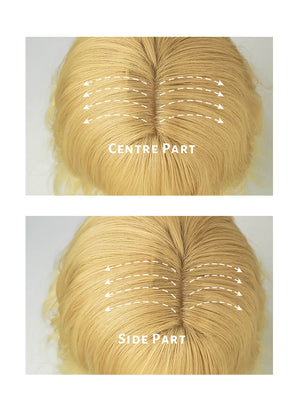 Light Blonde Wavy Bob Synthetic Wig NS161