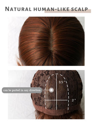 Brown Straight Synthetic Wig NS174
