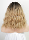 Blonde With Dark Roots Wavy Bob Synthetic Wig NS176