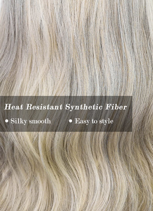 Mixed Light Blonde Wavy Synthetic Wig NS181