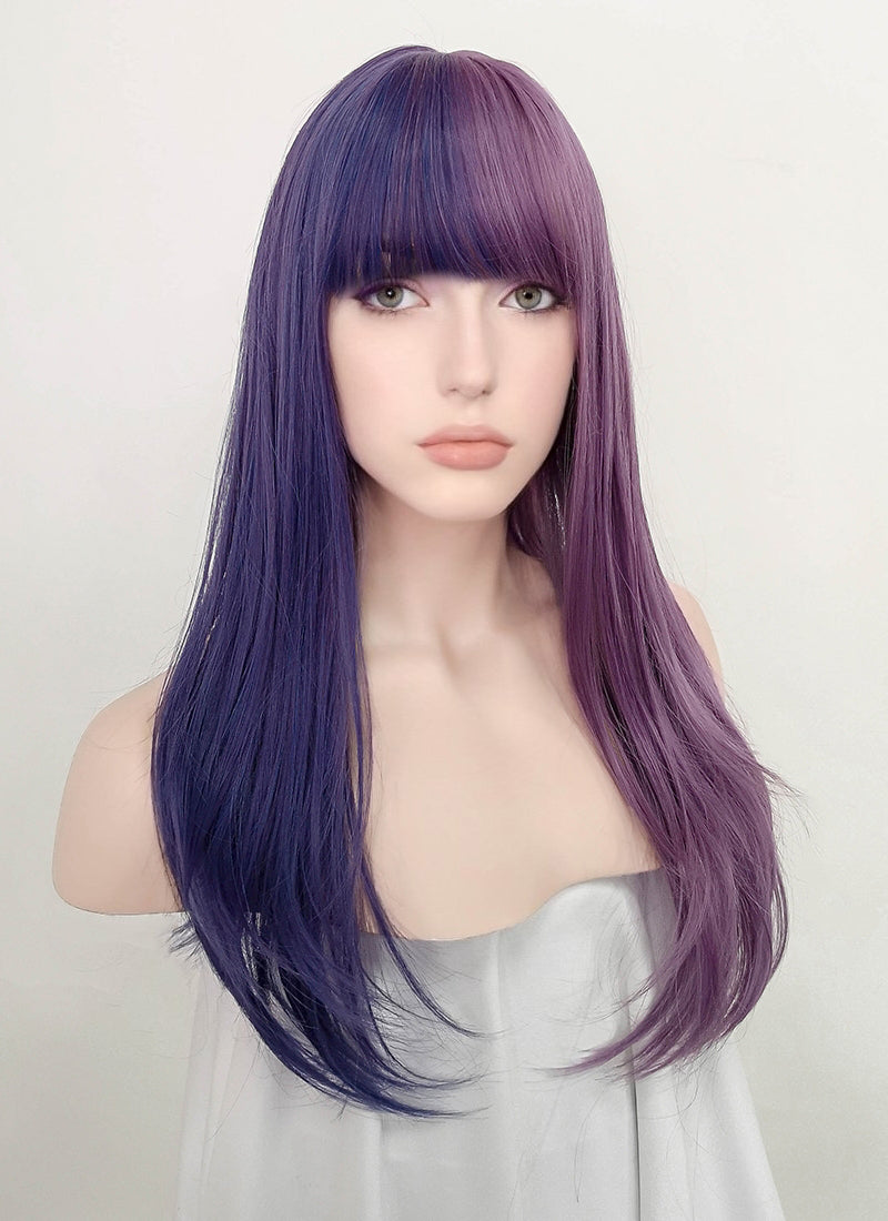 Two Tone Purple Straight Synthetic Wig NS203