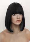 Black Mixed Grey Straight Bob Synthetic Wig NS210
