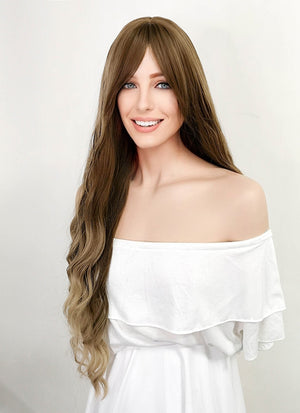 Town Tone Brown Wavy Synthetic Wig NS154