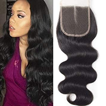 Full lace closure 4x4 Body Wave 18""