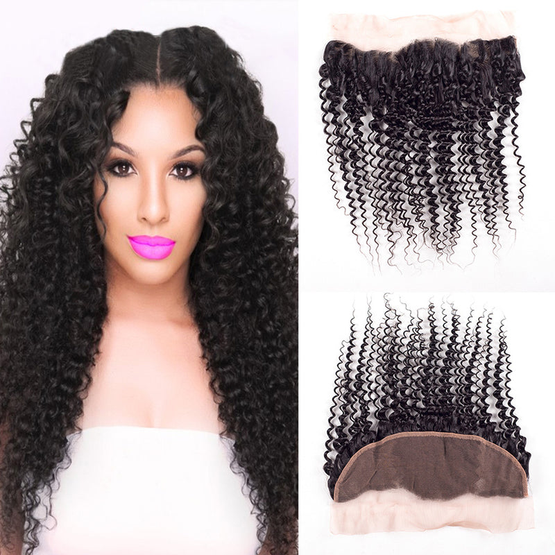 Full lace frontal 13x4 Jerry Curl 12""