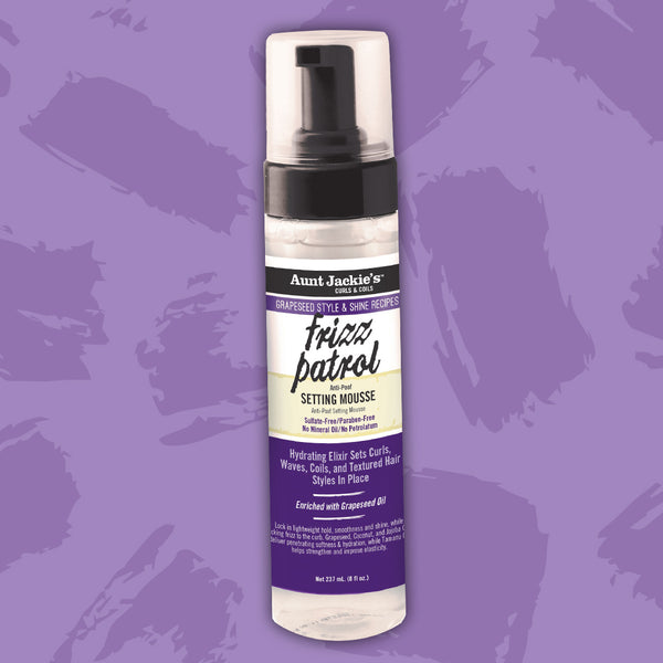 Aunt Jackie's Grapeseed Style Frizz Patrol Mousse de Fixation Boucles Folles 244ml