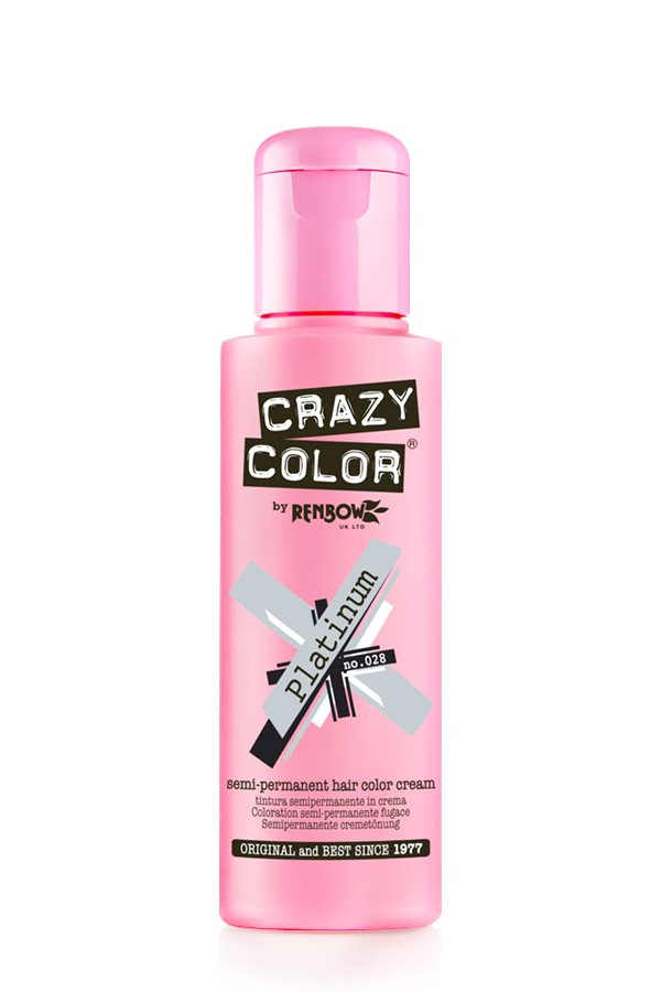 Crazy Color Coloration Semi-Permanante 28 Platinum 100ml