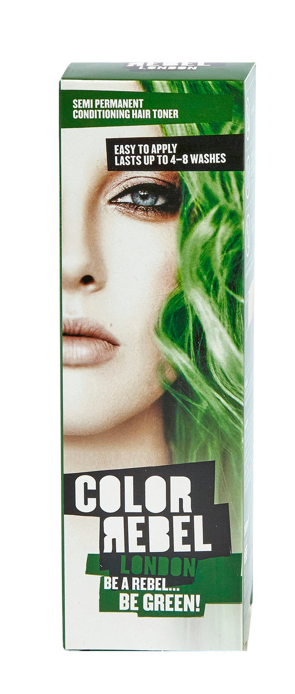 Color Rebel London Semi Permanent 100ml Green - Vert
