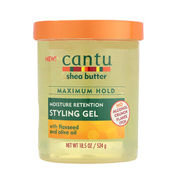 Cantu Shea Butter Moisture Retention Styling Gel With Flaxeed and Olive Oil - Gel Coiffant à l'huile d'Olive 524g