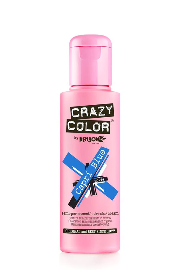 Crazy Color Coloration Semi-Permanante 44 Capri Blue 100ml