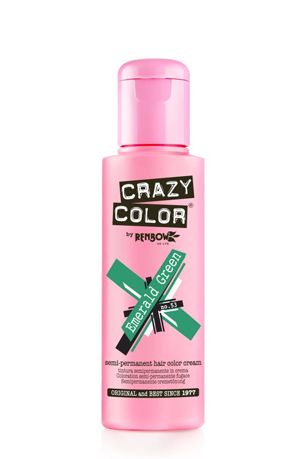 Crazy Color Coloration Semi-Permanante 53 Emerald Green 100ml
