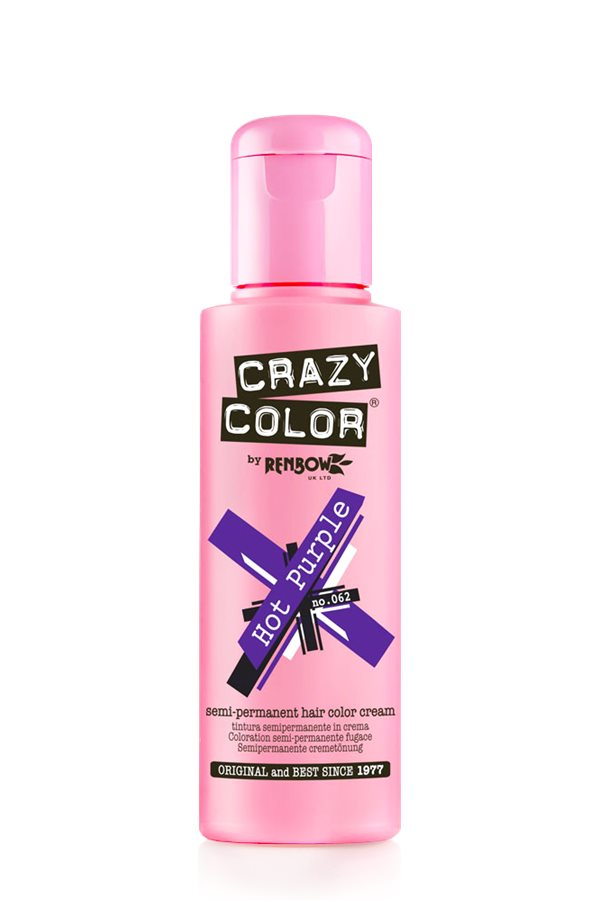 Crazy Color Coloration Semi-Permanante 62 Hot Purple 100ml