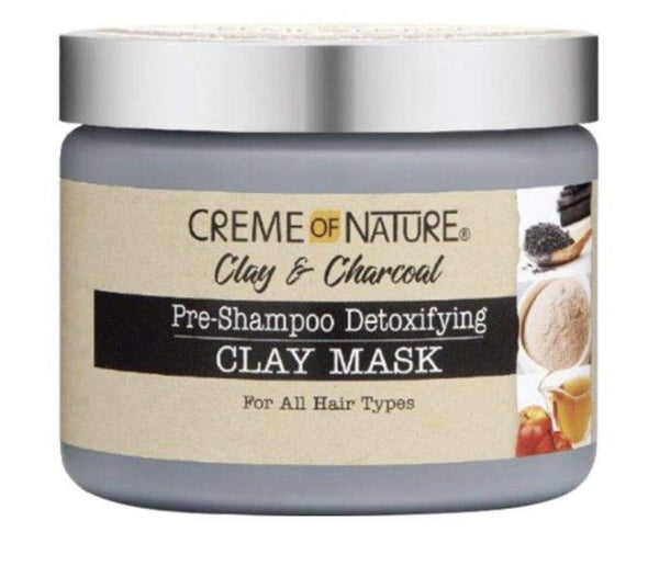 Creme of Nature Clay & Charcoal Mask - Masque Pré-Shampoing Argile et Charbon 326g