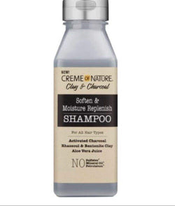 Creme of Nature Clay & Charcoal Shampoo - Shampoing Argile & Charbon 355ml