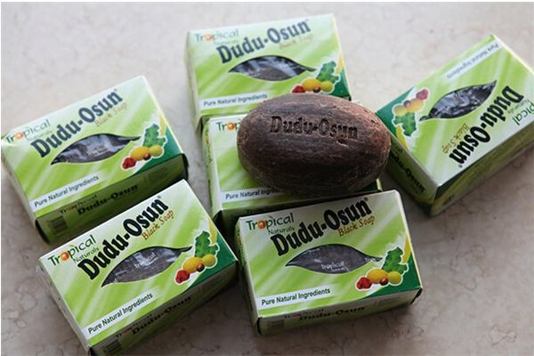 6 DUDU-OSUN AFRICAN BLACK SOAP - SAVON NOIR TROPICAL NATURALS 150 g