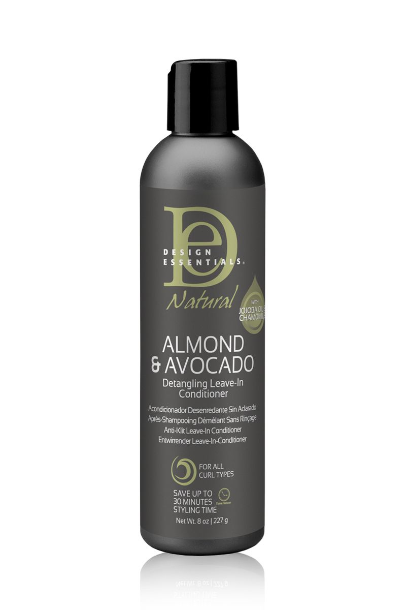 Design Essentials Almond & Avocado Detangling Leave-In Conditioner - Après-Shampoing Démêlant Sans Rinçage 227g