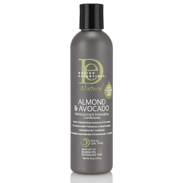 Design Essentials Almond & Avocado Moisturizing & Detangling Conditioner - Après-Shampoing Hydratant & Démêlant 227g