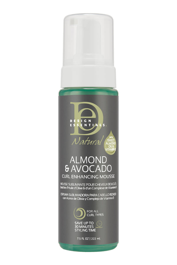 Design Essentials Almond & Avocado Curl Enhancing Mousse - Mousse Rehaussante pour Boucles 222ml
