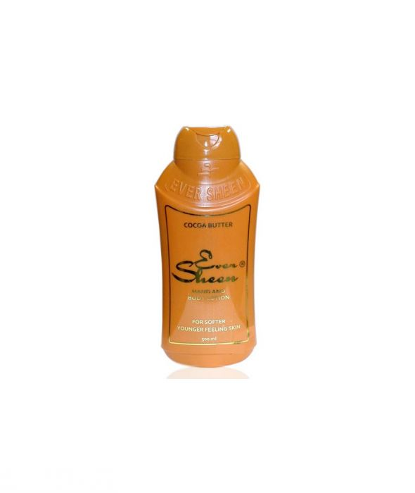 EVER SHEEN HAND & BODY LOTION  COCOA BUTTER - LAIT MAINS & CORPS BEURRE DE CACAO 500 ml