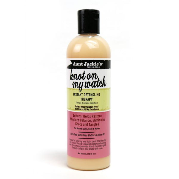 Aunt Jackie's Knot On My Watch, Instant Leave-in Detangling Therapy - Crème démêlante sans rinçage instantanée  355 ml