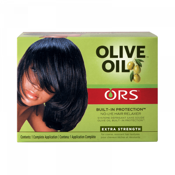 Organic Root Stimulator Olive Oil Relaxer Kit Extra Strength  - Kit Défrisant Super