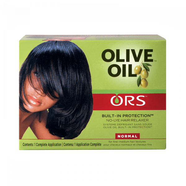 Organic Root Stimulator Olive Oil Relaxer Kit Regular - Kit Défrisant Normal