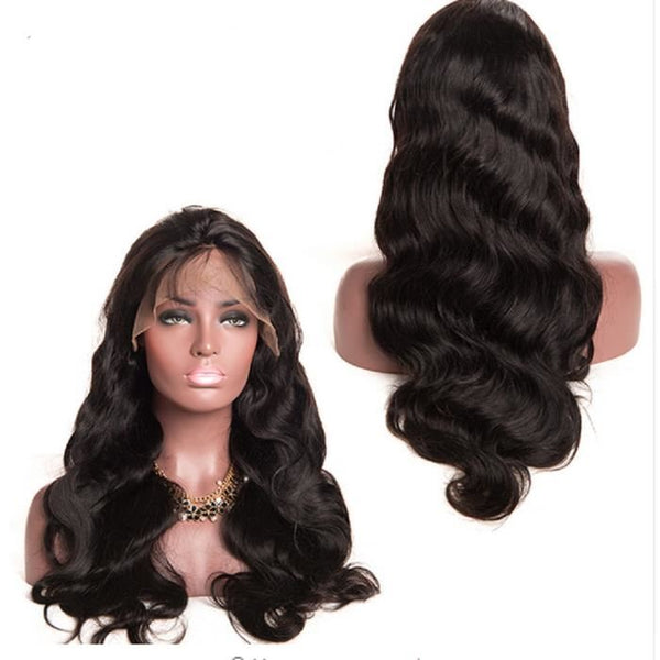 Perruque Lace Wig Brésilienne Body Wave Couleur Naturelle