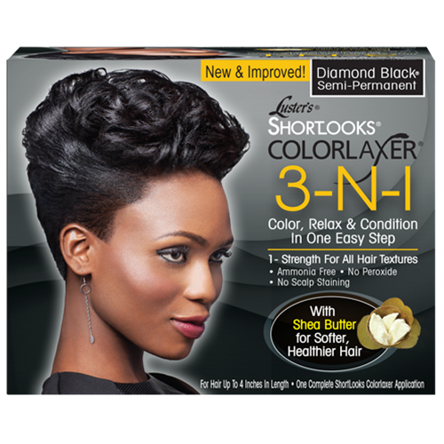LUSTERS PINK Shortlooks ColorLaxer Diamond Black - Défrisant Colorant NOIR