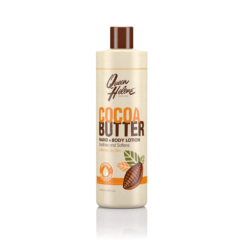 Queen Helene Cocoa Butter Hand and Body Lotion - Lait Beurre De Cacao Mains et Corps 454g
