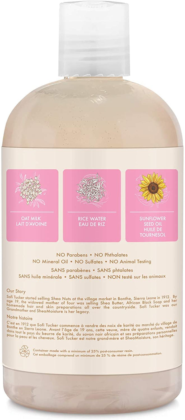 Shea Moisture Baby  Oat Milk & Rice Water Baby Wash & Shampoo - Shampoing Gel Douche Enfant 384ml