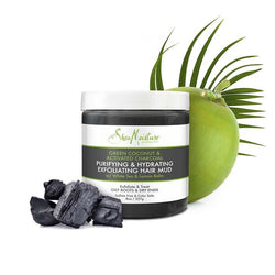 Shea Moisture Green Coconut & Activated Charcoal Puryfying & Hydrating Exfoliating Hair Mud 227g